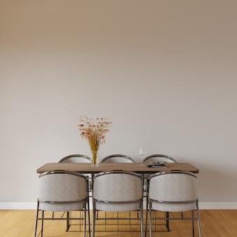 Tafel en stoelen in de kamer