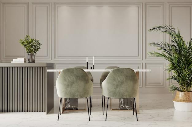 Tafel en stoelen in een keuken