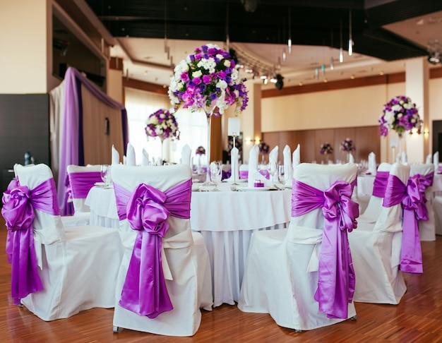 Tafel voor bruiloft