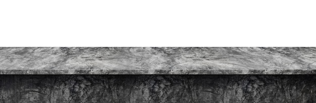 Tafelblad betonnen loft-stijl, gebruikt voor weergave of montage van uw producten, geïsoleerd op een witte achtergrond