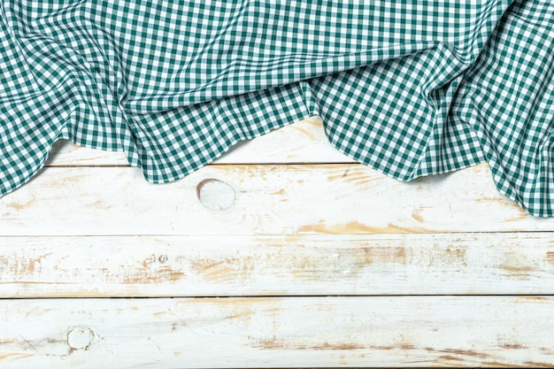 Tafelkleedtextiel op hout
