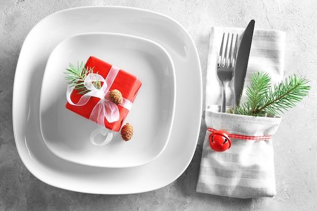 Tafelschikking voor het kerstdiner