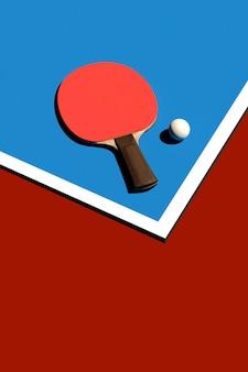 Tafeltennis of pingpongracket en van het de afficheontwerp van ballentoernooien 3d illustratie