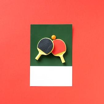 Tafeltennis sport-set met een bal