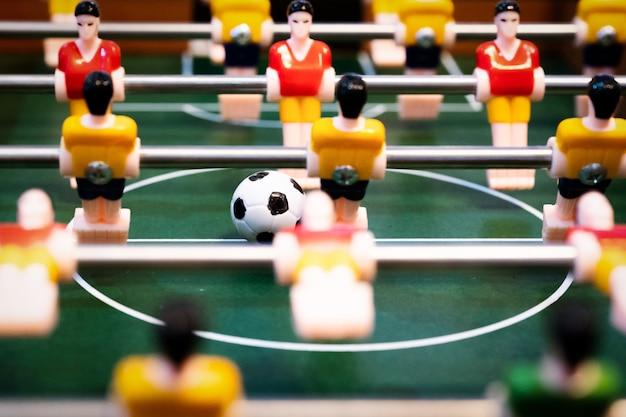 Tafelvoetbal tafelvoetbal. voetbal speler, sport concept