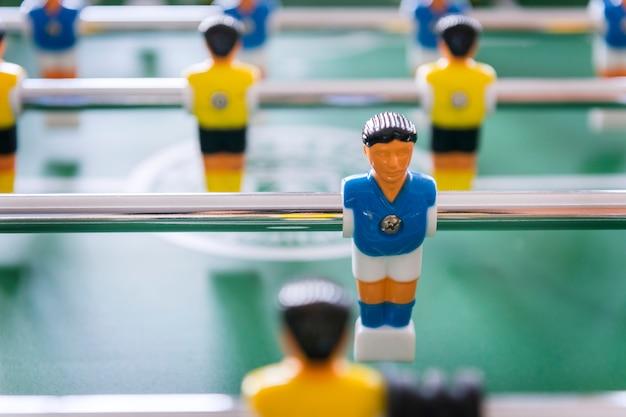 Tafelvoetbaltafel voetbalspel recreatie vrije tijd