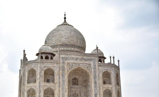 Taj mahal close-up shot