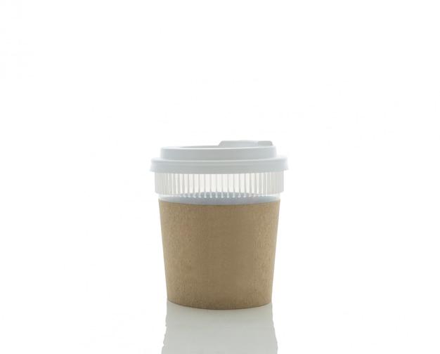 Take-out koffie in thermokop. geïsoleerd
