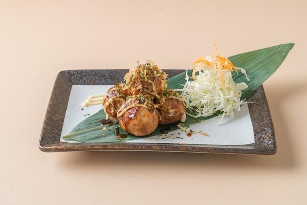 Takoyaki ball-dumplings of octopus-balletjes