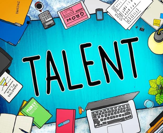 Talent begaafde vaardigheden capaciteiten expertise concept