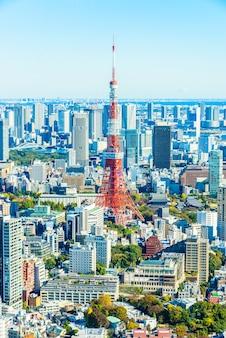 Tall sky district tokyo licht