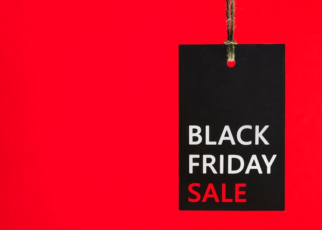 Tally met inscriptie van black friday