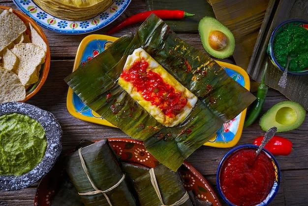 Tamale mexicaans recept met banaanbladeren