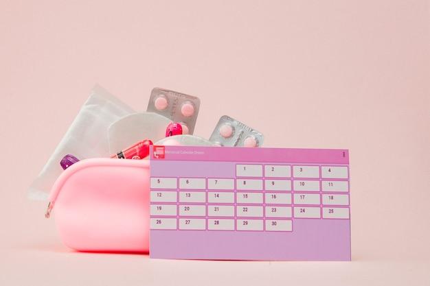 Tampon, vrouwelijk, maandverband voor kritieke dagen, vrouwelijke kalender, pijnstillers tijdens de menstruatie