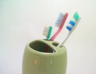 Tandenborstels, groen, zorg