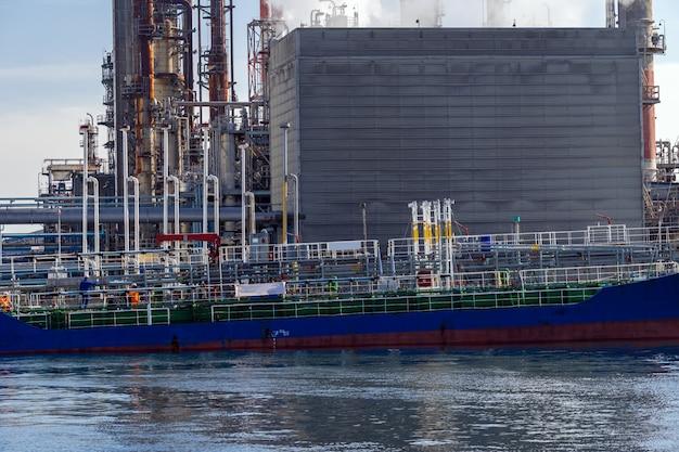 Tankboot chemische fabriek