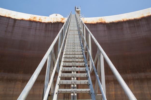 Tankolie drijvende dakplaat ladder en schaalplaat