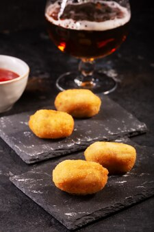 Tapaskroketten, traditionele spaanse of franse snack