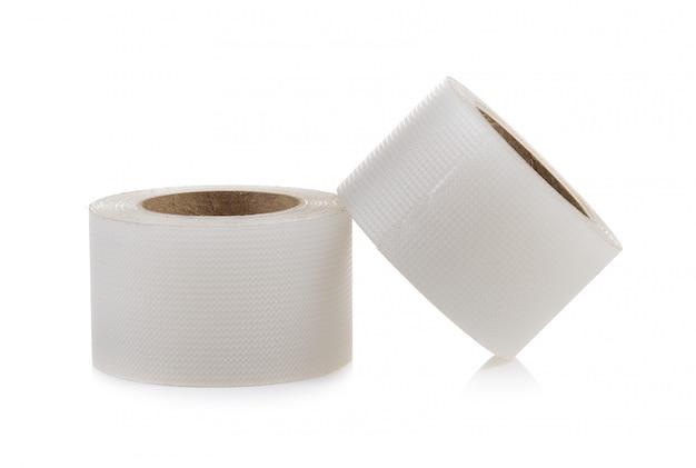 Tape, medische op witte muur