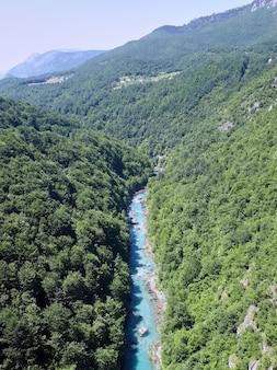 Tara river canyon in montenegro