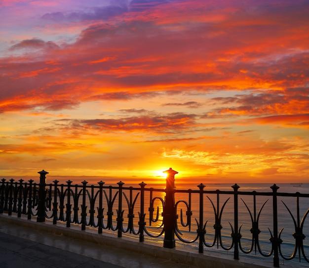Tarragona balkon van europa bij zonsopgang