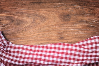 Tartan, houten achtergrond