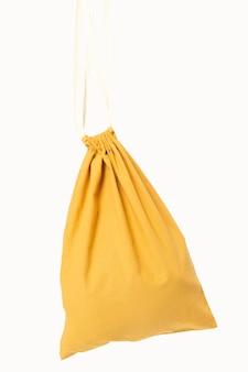 Tas met koord geel accessoire studioshoot met ontwerpruimte
