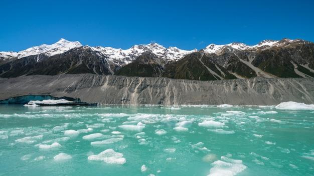 Tasman glacier, nieuw-zeeland