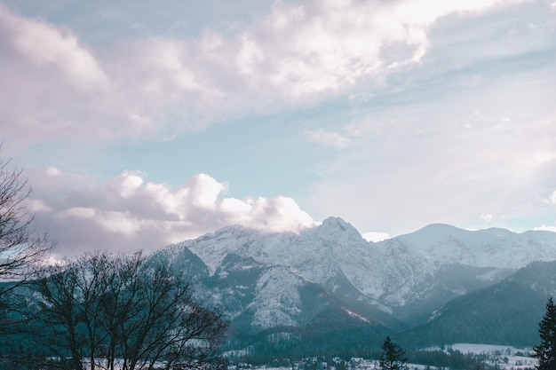 Tatry in de winter, shot make met kasprowy, zakopane