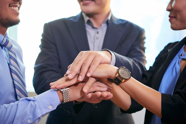Team hand in hand samen