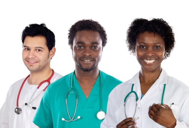 Team van jonge artsen