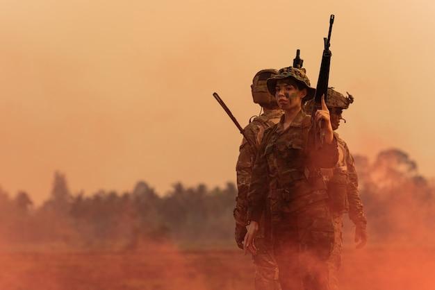 Team van soldaten