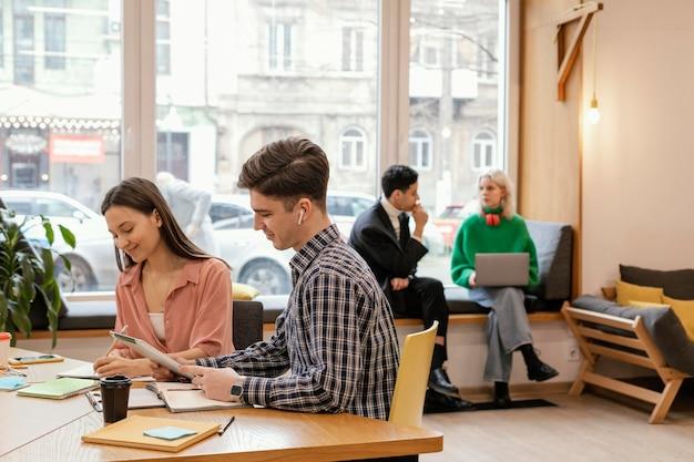 Teamvergadering voor startups