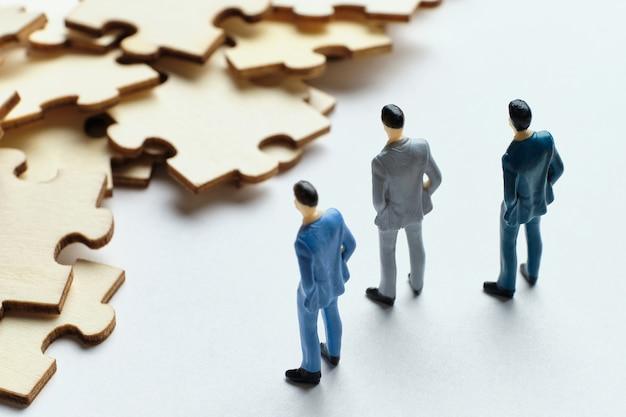 Teamwerkconcept in zaken en op het werk