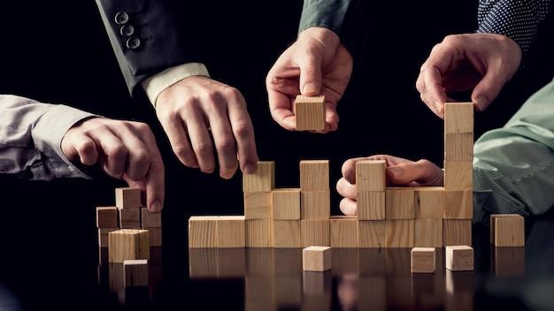 Teamwork en samenwerking concept