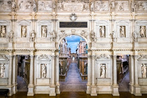Teatro olimpico in vicenza, unesco-werelderfgoed in italië