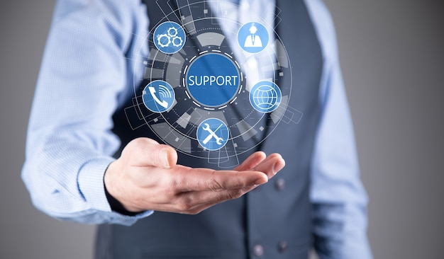 Technisch ondersteuningscentrum klantenservice internet business technology concept.