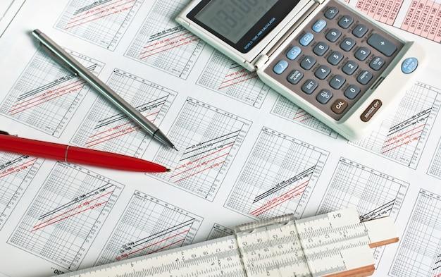 Technisch schema van een rekenliniaal