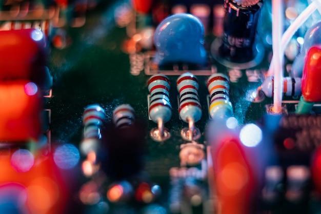 Technische achtergrond close-up