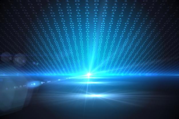 Technische achtergrond met binaire code