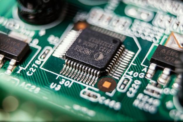 Technische achtergrond met chip