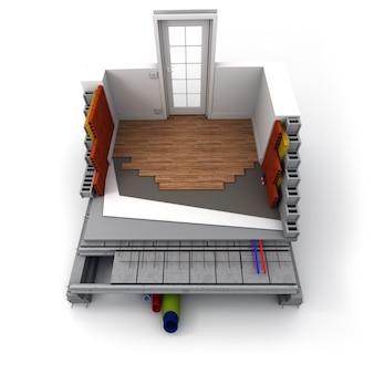 Technische details voor een woningbouw