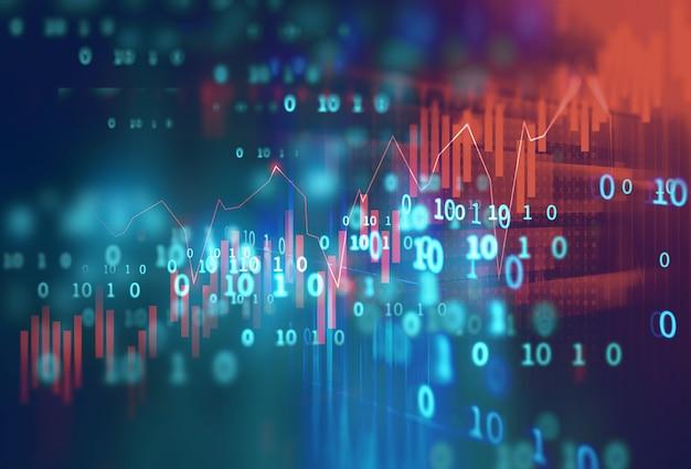Technische financiële grafiek op technologie abstracte achtergrond