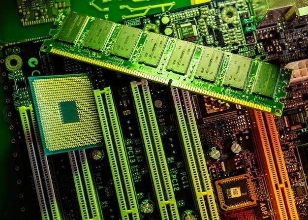 Technologie achtergrond bovenaanzicht