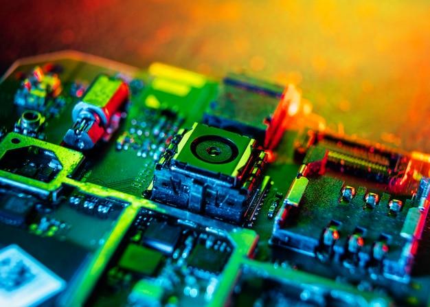 Technologie achtergrond hoge hoek
