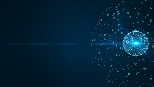 Technologie big data-concept.