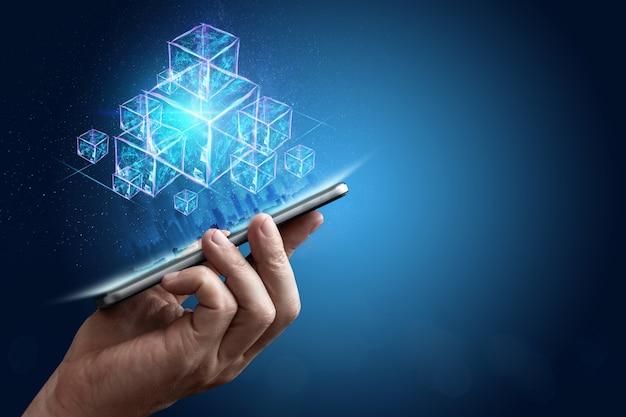 Technologie blockchain abstracte achtergrond
