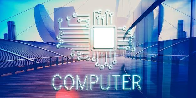 Technologie circuit netwerk concept