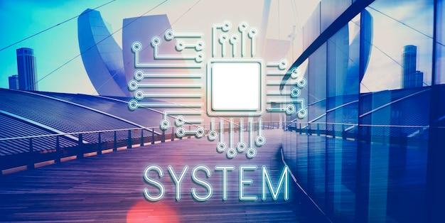 Technologie circuit processor innovatie netwerk concept