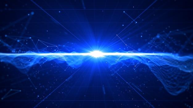 Technologie digitale gegevens met flare abstracte achtergrond